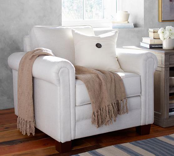 SoMa Brennan Upholstered Armchair | Pottery Barn