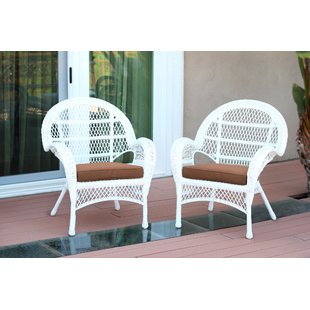 Small White Wicker Chair   Wayfair