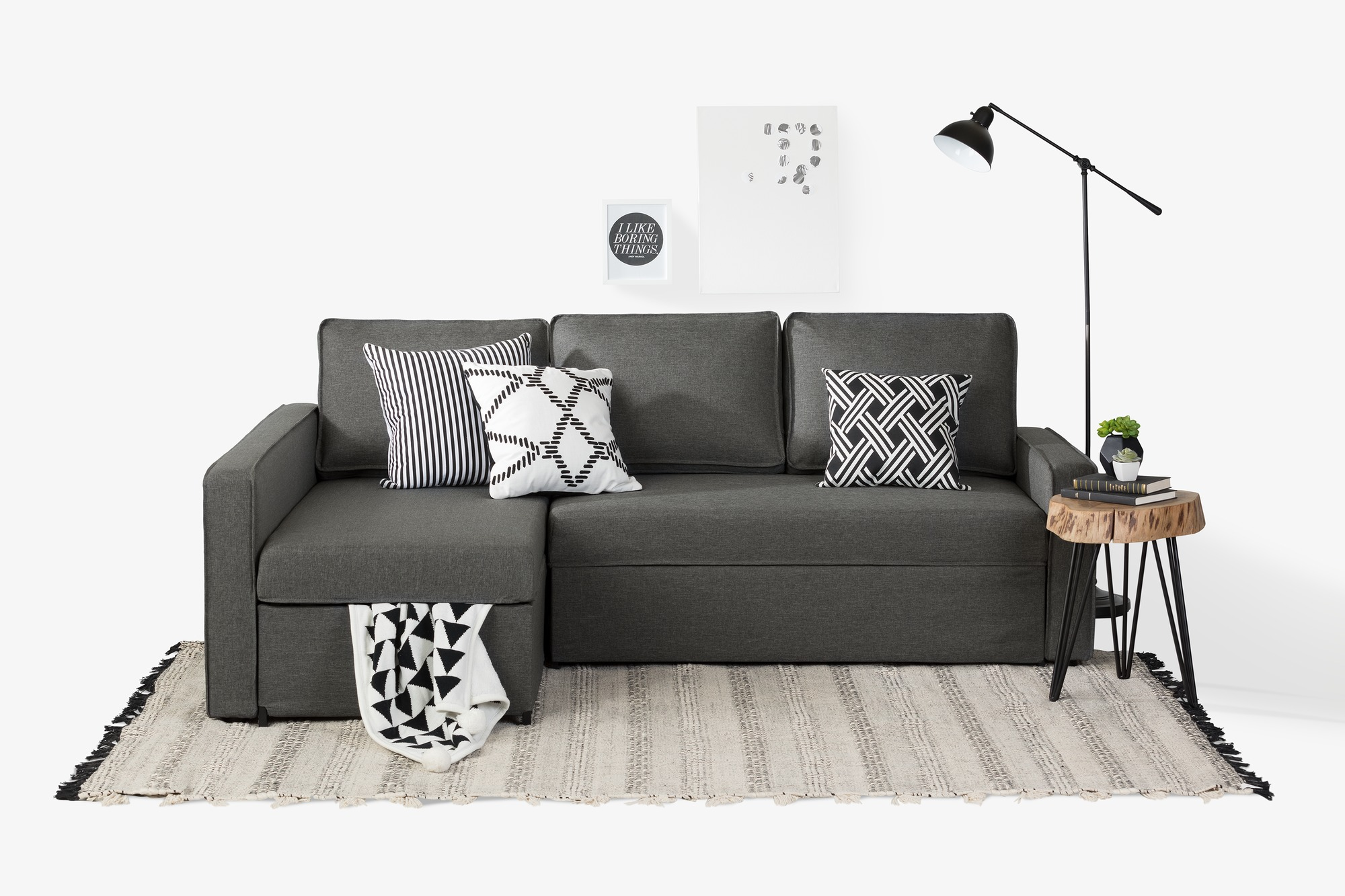 South Shore Live-it Cozy Sectional Sofa-Bed with Storage, Multiple
