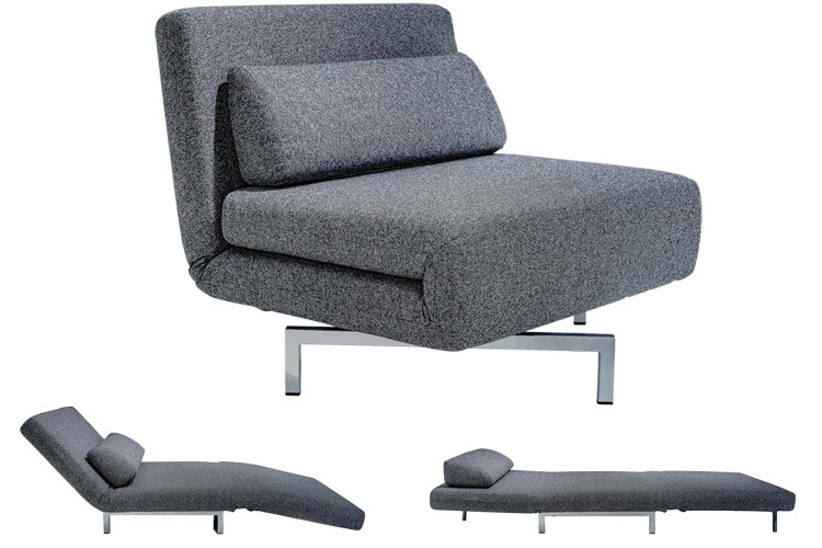 Modern Grey Futon Chair |S Chair Sleeper Futon | The Futon Shop