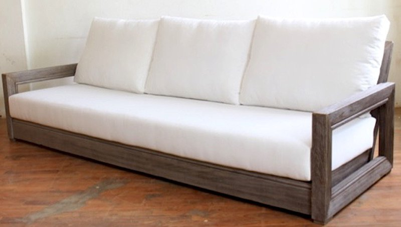 Constance Teak Outdoor Patio Sofa with Cushions | AllModern