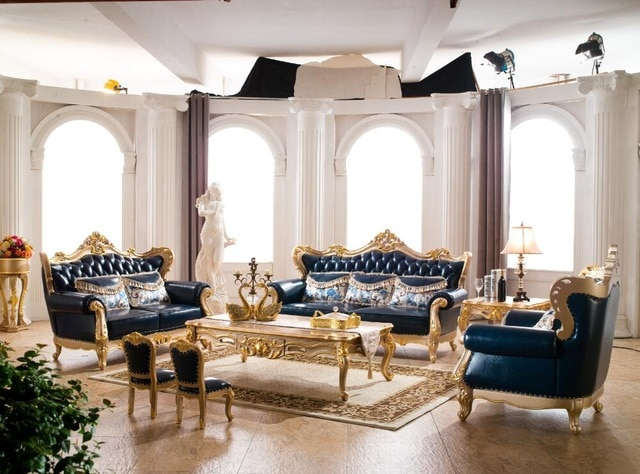 Royal furniture sofa set for italian leather sofa with European