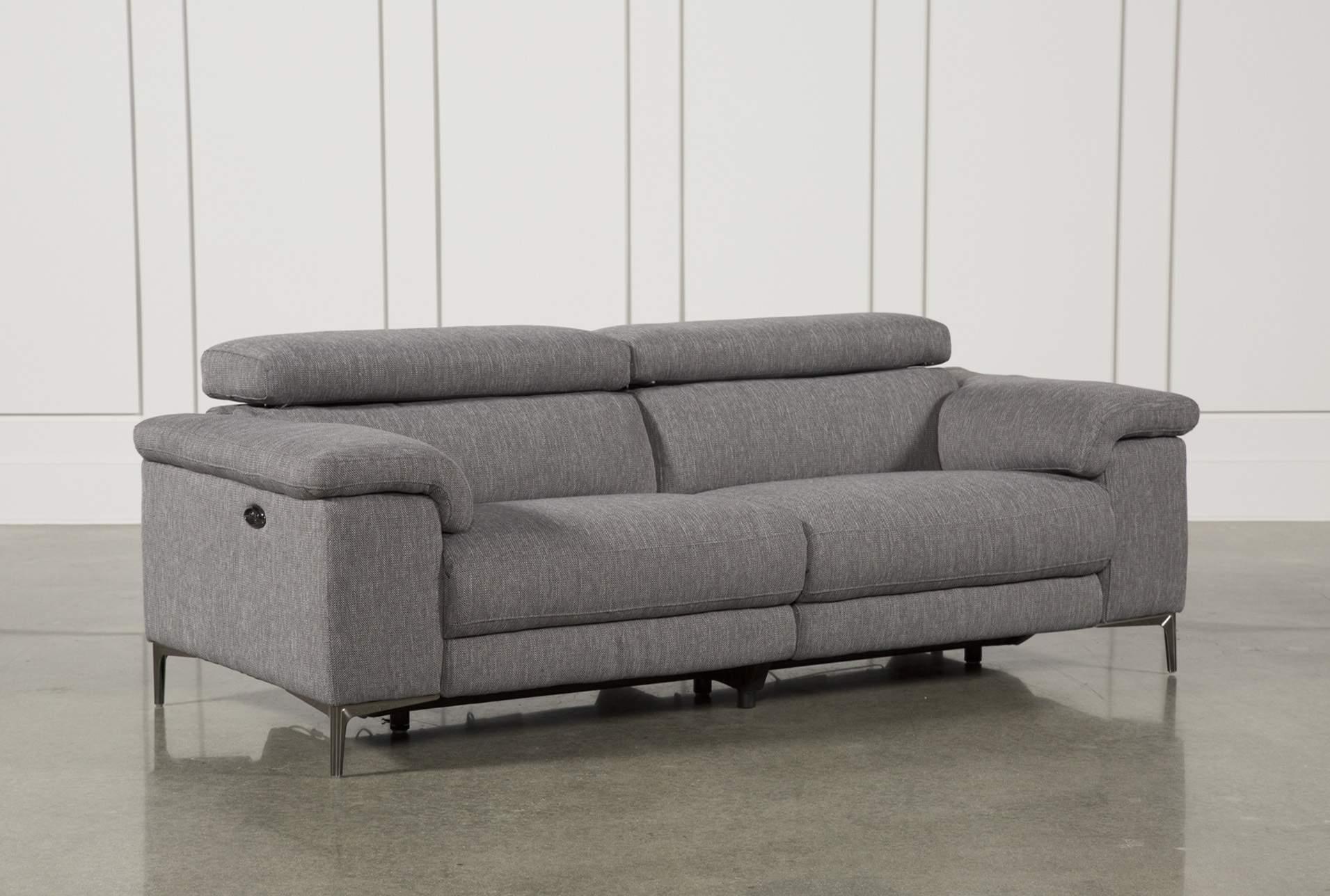 Talin Grey Power Reclining Sofa W/Usb | Living Spaces