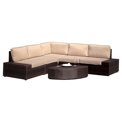Santa Cruz 6pc Wicker Patio Sofa Set - Christopher Knight Home : Target