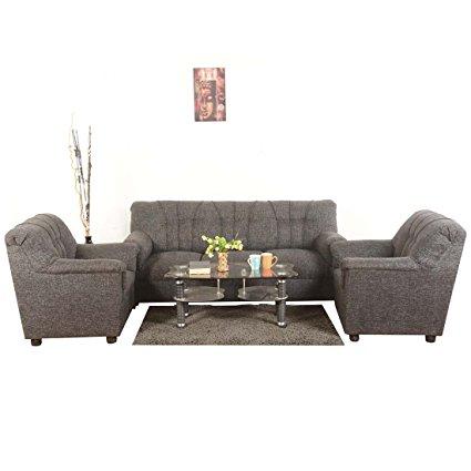 Roman Living Hastings 3+1+1 Seater Fabric Sofa Pack (Grey): Amazon