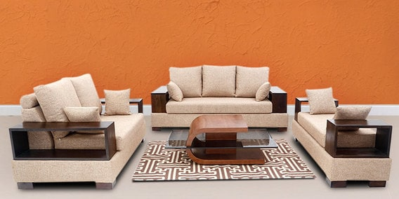 Buy Opulent Sofa Set (3 Seater+ 2 Seater+ Divan) by Elegance by