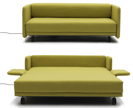 Lazy Luxury Sleeper: Convertible Push-Button Couch + Bed