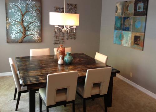 Square Farmhouse Dining Table - James+James Furniture   Springdale