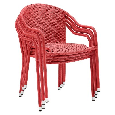 Crosley Palm Harbor Outdoor Wicker Stackable Chairs - Set Of 4 : Target
