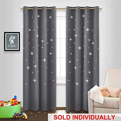 Amazon.com: NICETOWN Twinkle Star Curtain for Nursery - Starry Night