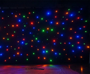 Concert Background Cloth Light Led Star Curtain - Buy Led Star
