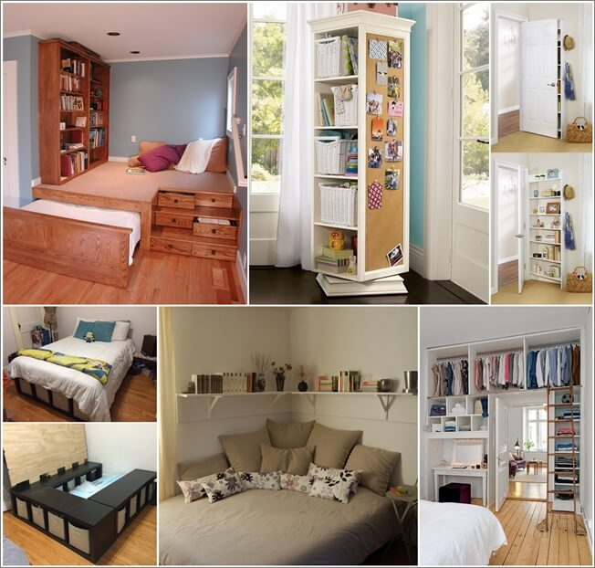 Storage Ideas for a Small Bedroom - Fancy Diy Art