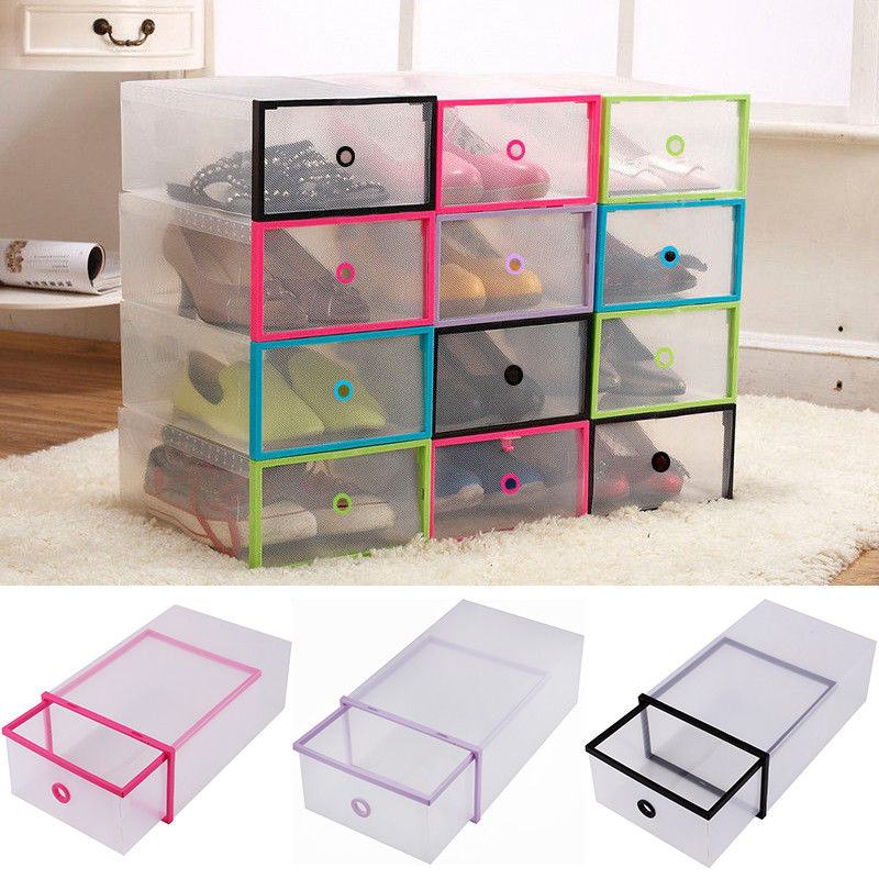 Yosoo 5PCS Shoe Box Drawer Home Organizers Clear Plastic Shoe