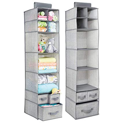 Amazon.com: mDesign Soft Fabric Over Closet Rod Hanging Storage