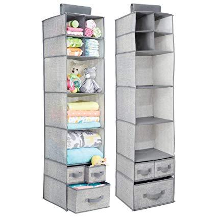 Amazon.com: mDesign Soft Fabric Over Closet Rod Hanging Storage