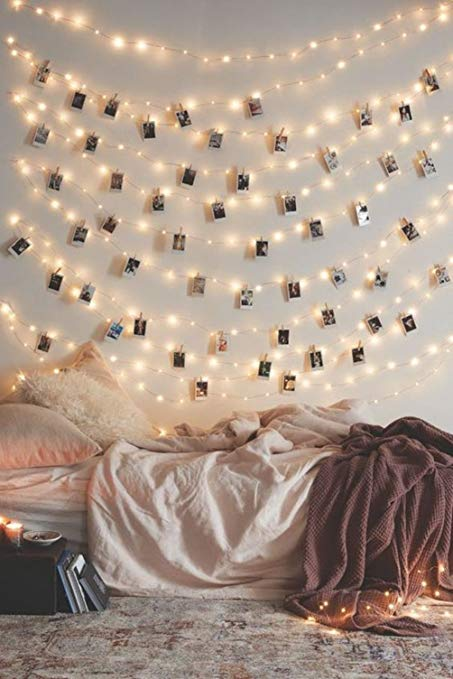 Amazon.com : 50 LED Photo Clip String Lights Home Decor Indoor
