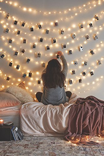 Create an aroma in your   bedroom with string lights for bedroom