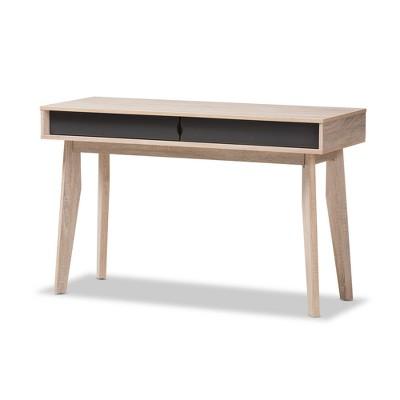Fella Mid - Century Modern 2 - Drawer Wood Study Desk - Brown