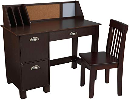 Amazon.com: KidKraft Study Desk with Chair-Espresso: Toys & Games