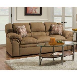 Ultra Suede Sofa   Wayfair