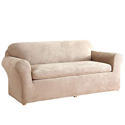 Amazon.com: Surefit Stretch Suede - Sofa Slipcover - Taupe: Kitchen