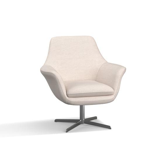 SoMa Jaxson Upholstered Swivel Armchair | Pottery Barn