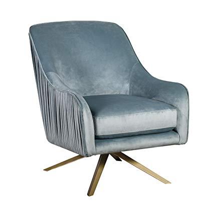 Amazon.com: Elle Decor UPH10029B Jolie Swivel Chair Lounge, Seaglass