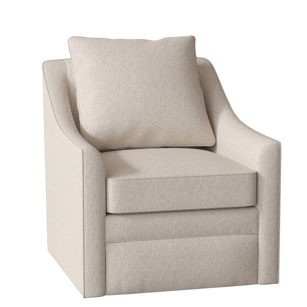 AllModern Custom Upholstery Quincy Swivel Armchair & Reviews   Wayfair