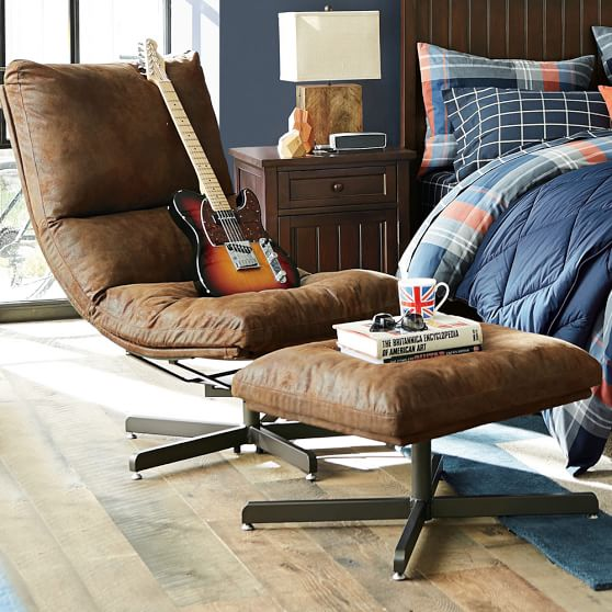 Trailblazer Maverick Swivel Lounge Chair & Ottoman | PBteen