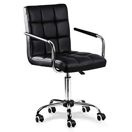Amazon.com: Yaheetech Desk Chair - Office Chair White with Arms