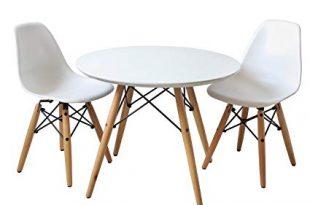 Amazon.com - Buschman Kids Modern Table with 2 Armless Chairs