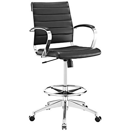 Amazon.com: Modway Jive Drafting Chair In Black - Reception Desk