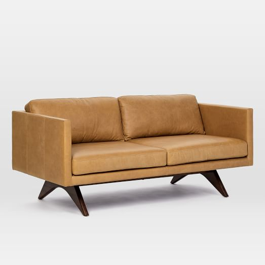 Brooklyn Leather Loveseat (66.5