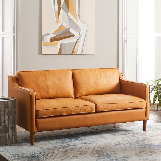 Hamilton Leather Loveseat (56