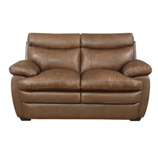 Tan Leather Loveseat | Wayfair
