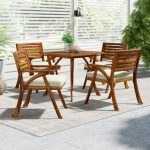 Teak   patio furniture is best for furnishing patio and other outdoor areas