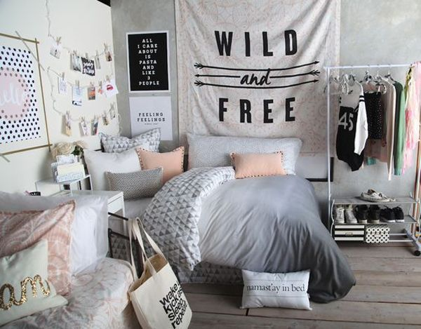 black and white bedroom ideas for teens | Dream bed room | Pinterest