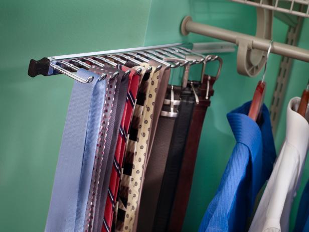 Closet Tie Racks   HGTV