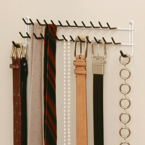 Tie Rack Belt Organizer Holder Wall Mount Hanger Closet Hook Storage