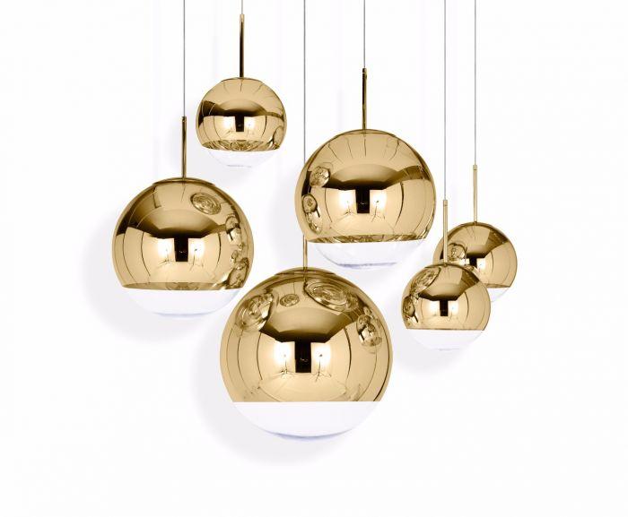 Mirror Ball Gold 25 Pendant   Pendant Lights   Tom Dixon