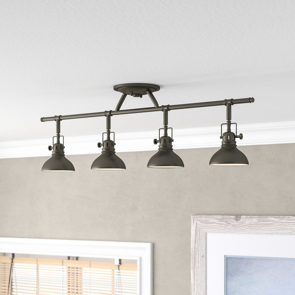 Beachcrest Home Dollinger 4-Light Fixed Track Lighting Kit & Reviews