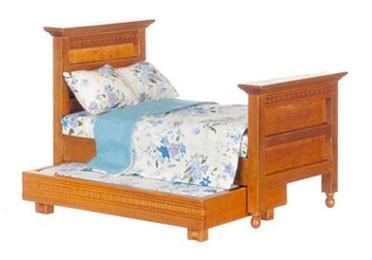 Dollhouse Trundle Bed/Walnut - Walmart.com