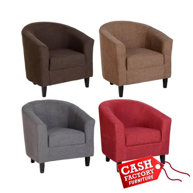 Tempo Fabric Tub Chair u2013 Cash Factory Furniture