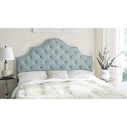 Amazon.com - Safavieh Arebelle Sky Blue Upholstered Tufted Headboard