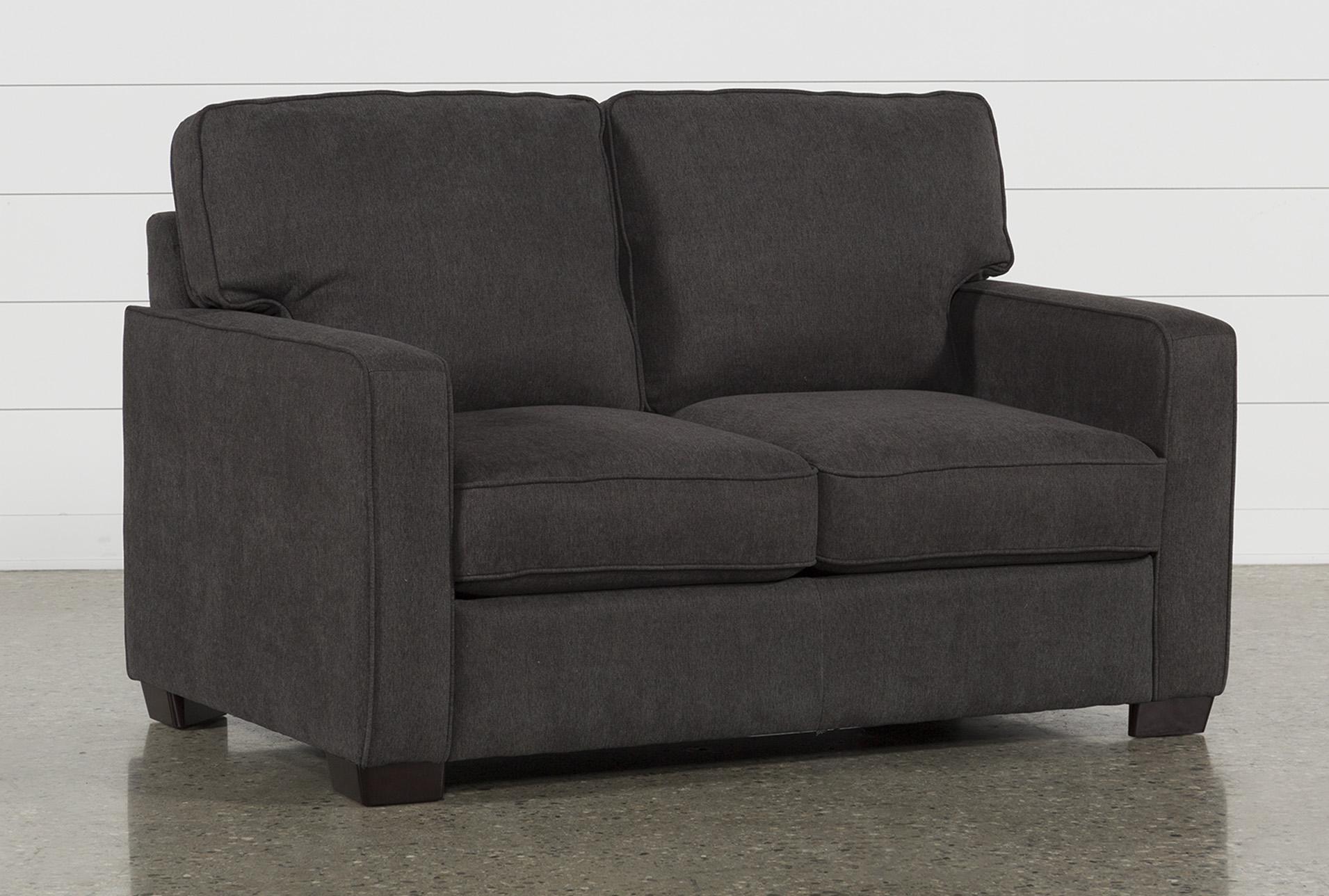 Morris Charcoal Twin Sofa Sleeper | Living Spaces