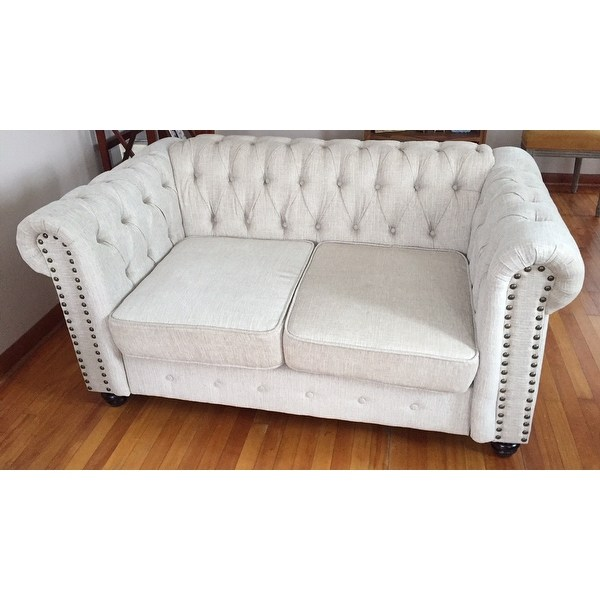 Shop Best Master Furniture Tufted Upholstered Loveseat - Free