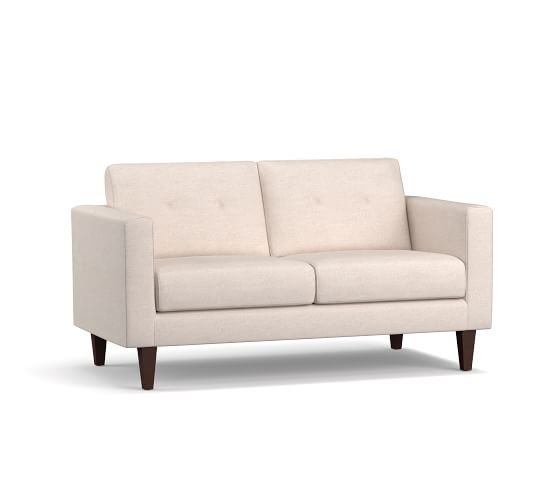 SoMa Leo Upholstered Loveseat | Pottery Barn