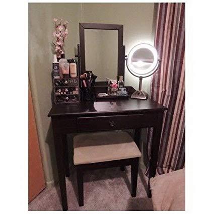 Amazon.com: Vanity Table Set Mirror Stool Bedroom Furniture Dressing