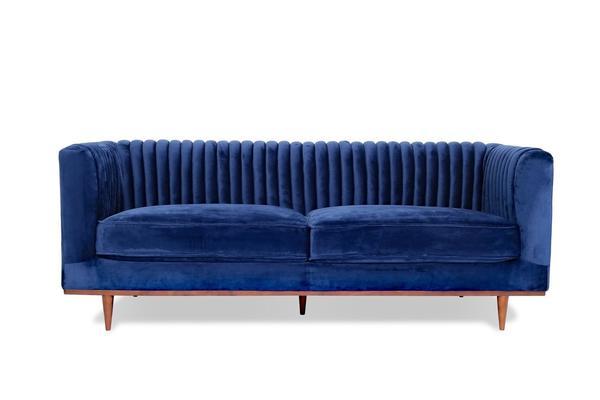 Buy Edloe Finch EF-Z1-3S003 Laurel Velvet Sofa Dark Blue Velvet at