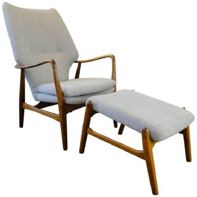 Vintage Armchair and Ottoman by Ib Madsen & Acton Schubell for sale